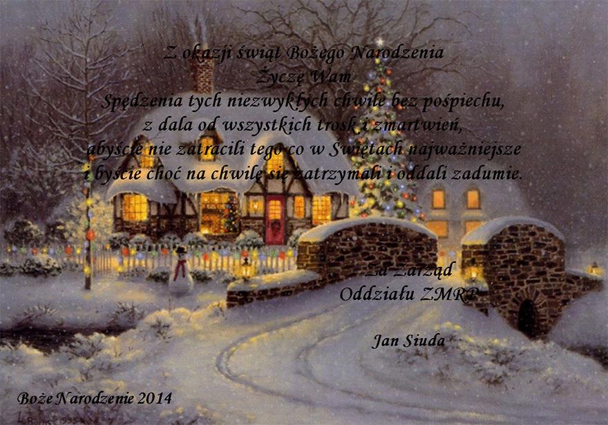 Życzenia bożonarodzeniowe 2014